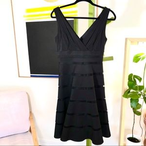 White House Black Market fit and flare dress sz 4